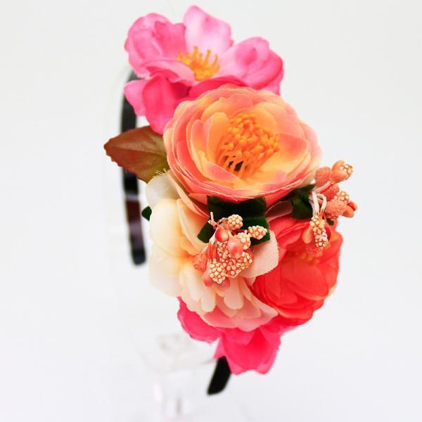 カチューシャ 花冠  ウェディング ヘッドドレス 花かんむり 結婚式 花嫁 子供 花かんむり キッズ  カチューシャ 造花 髪飾り fka01k