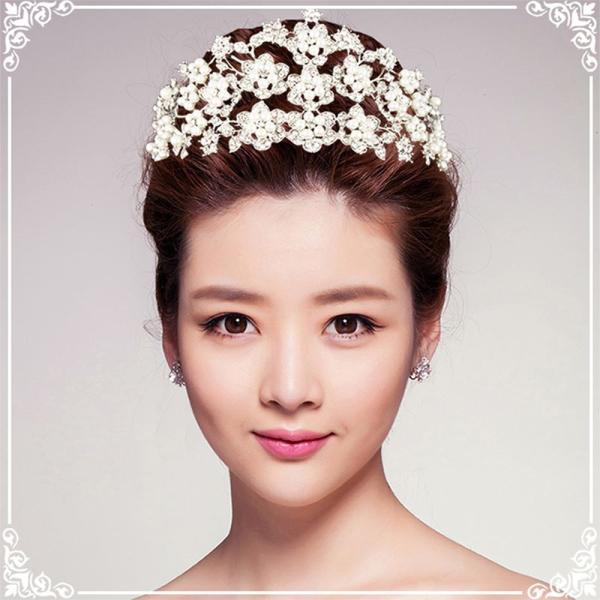 ティアラ 結婚式 キュービックジルコニア 王冠 ウエディング ティアラ ブライダル tiara 髪飾り ft9047plsr