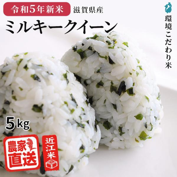 令和3年新米 ミルキークイーン 5kg お米 滋賀県産 送料無料 農家直送 おいしい 近江米 精米無料 玄米 白米