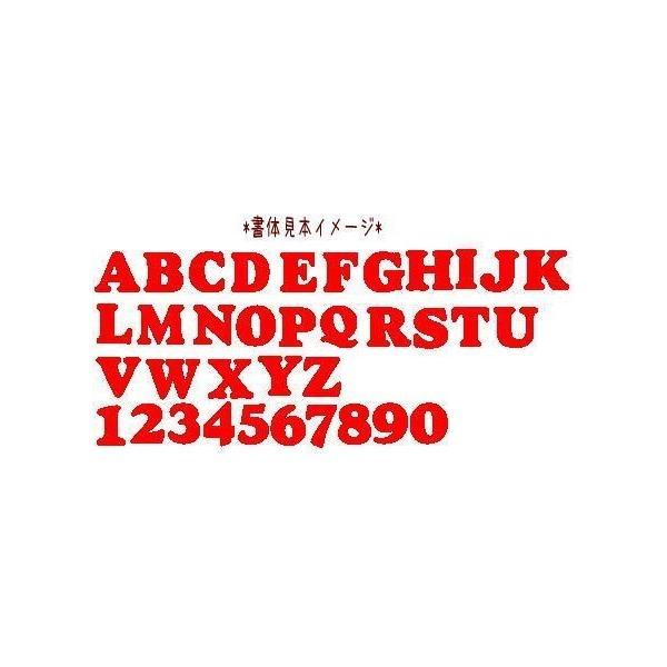 【書体1】【#coo】【3cm】アルファベット数字のカットアイロンワッペン farnnie-ya 02