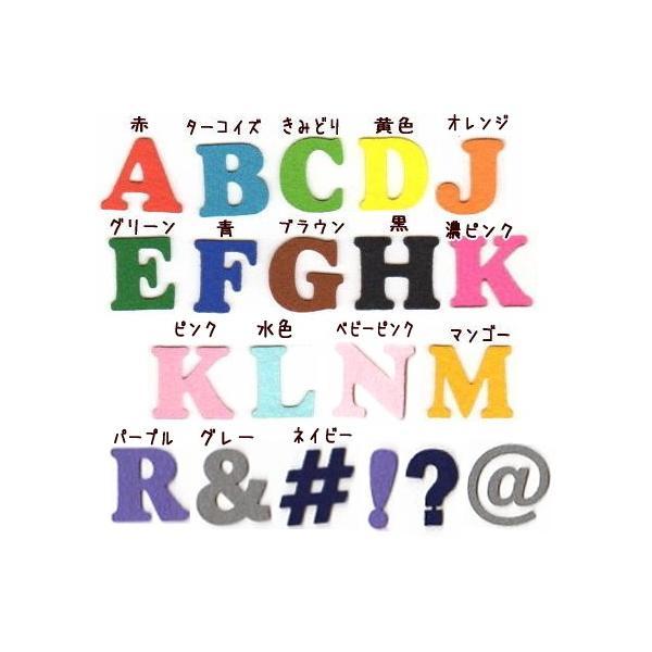 【書体1】【#coo】【4.5cm】アルファベットのカットワッペン farnnie-ya