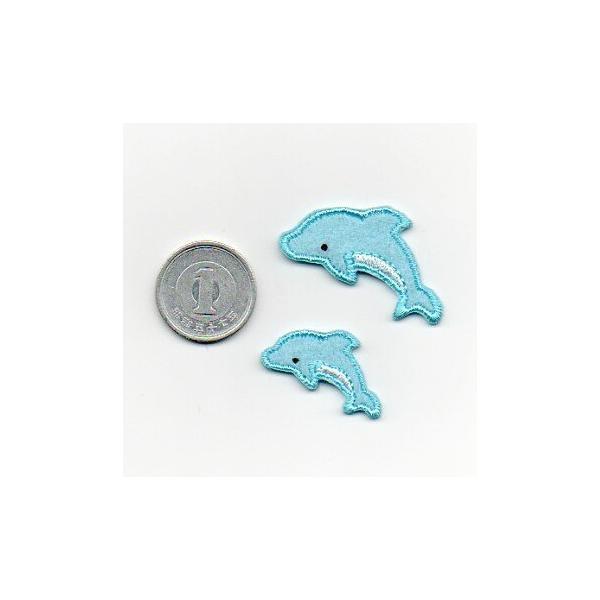 イルカのワッペン大小セット farnnie-ya 02