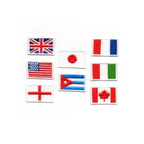 ミニ国旗のアイロンワッペン【S】|farnnie-ya
