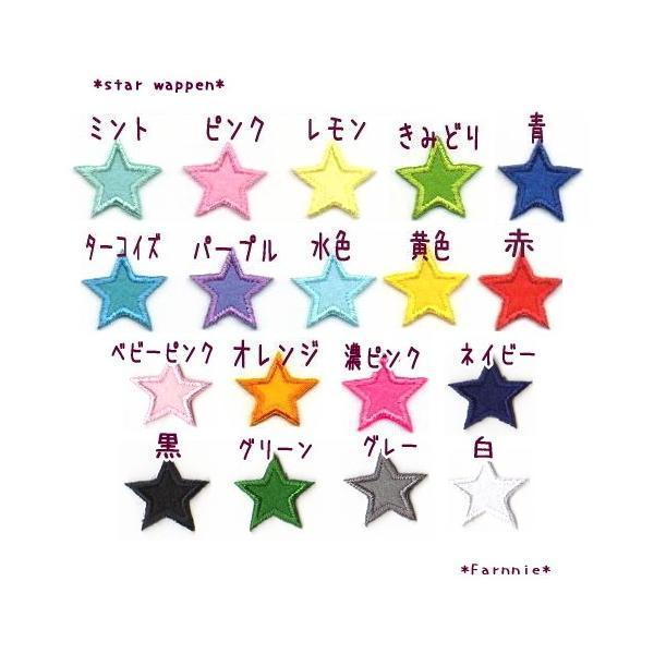 星のアイロンワッペン【M】フェルトのアップリケ farnnie-ya