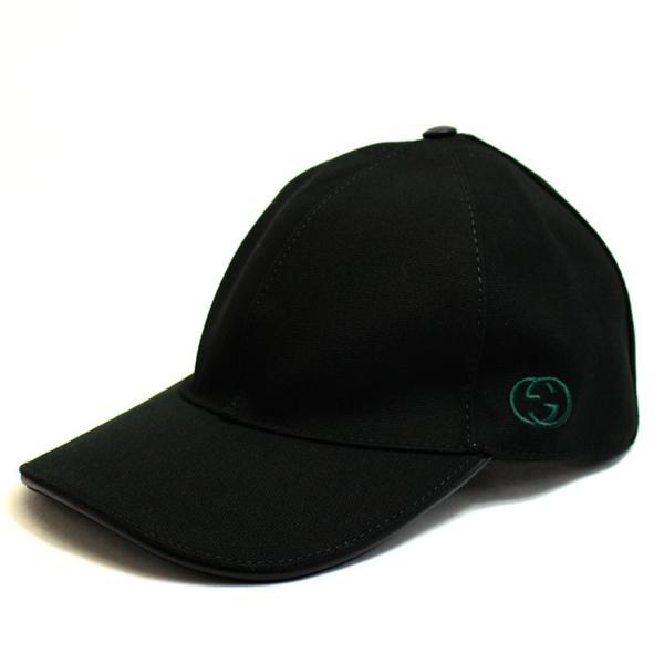 bfe6cd00a7b4 グッチ GUCCI キャップ キャップ 帽子 ロゴ ブラック メンズ レディース Lサイズ アウトレット ブランド 387554 セール 2019