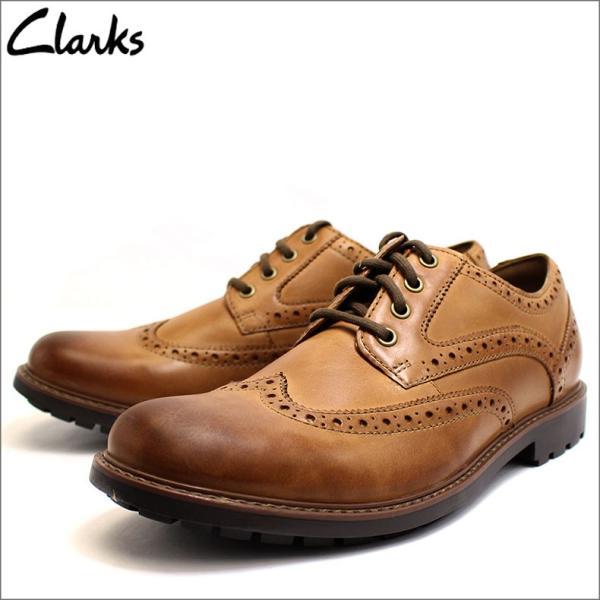 クラークス Clarks 靴 革靴 シューズ ビジネスシューズ カジュアル 本革 レザー ブラウン メンズ ブランド 26128465|fashion-labo