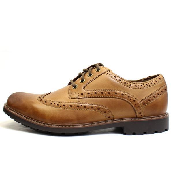 クラークス Clarks 靴 革靴 シューズ ビジネスシューズ カジュアル 本革 レザー ブラウン メンズ ブランド 26128465|fashion-labo|02