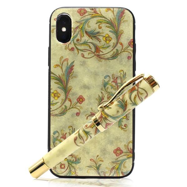 iPhone X XS ケース アイフォンケース 万年筆 高級 ギフトセット イタリア製紙 日本製 スマホケース luminio ルミニーオ ブランド 0200
