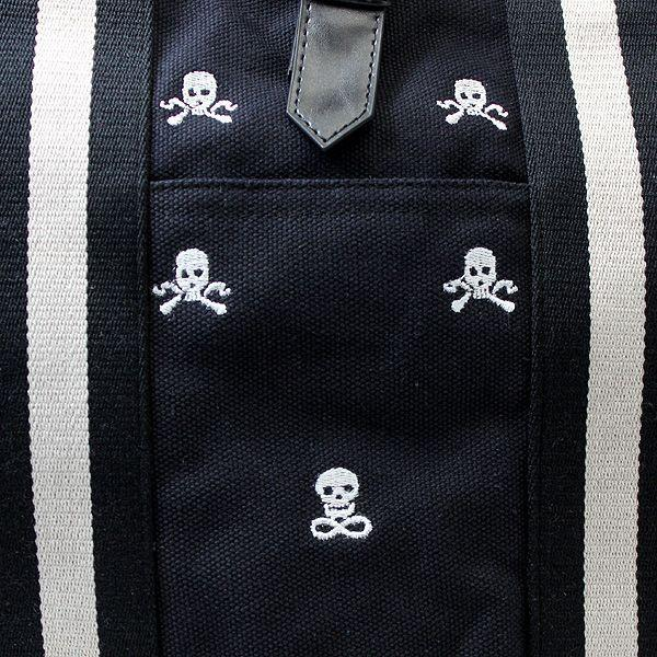 キャンバストート ブランド メンズ luminio ルミニーオ スカル ドクロ 刺繍 帆布 トートバッグ 迷彩柄 カモフラ柄 2way 111