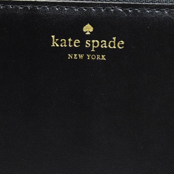 3b3865d051ac ... ケイトスペード kate SPADE 財布 二つ折り財布 ブラック レザー 本革 ジップ ラウンド 3321 セール ...