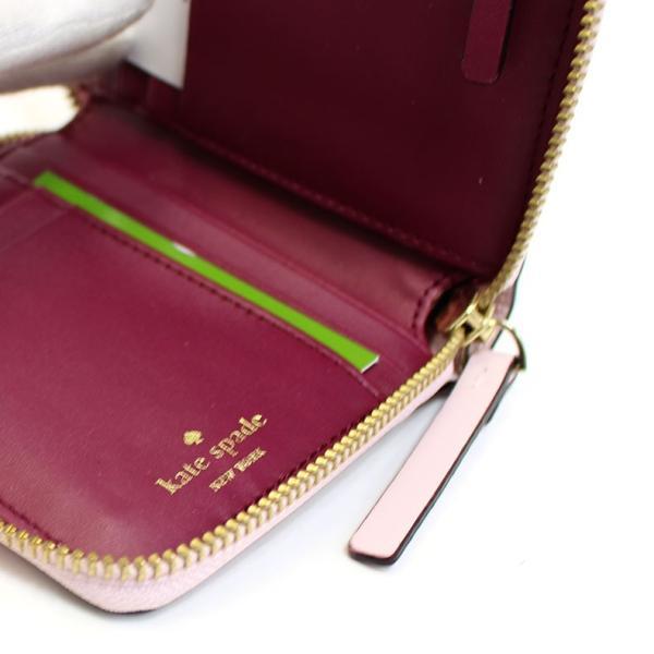 1b9288974175 ... ケイトスペード kate SPADE 財布 二つ折り財布 ピンク レザー 本革 ジップ ラウンド 3321 セール