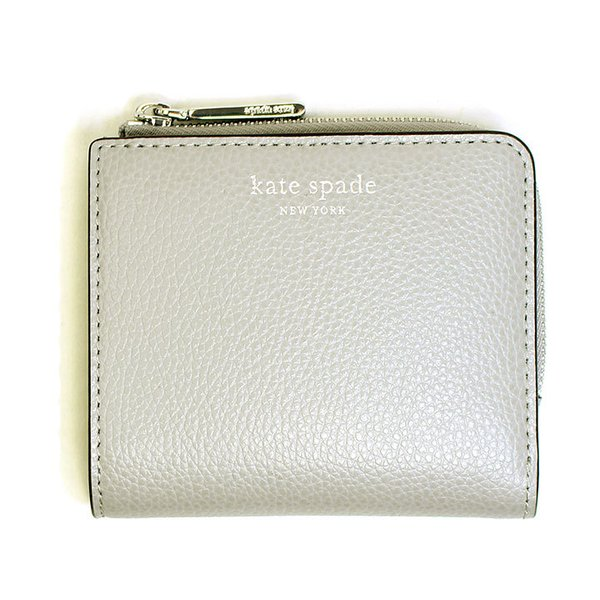 ビッグセールケイトスペードkatespade財布二つ折り財布レディースレザー本革ミニ財布グレーアウトレットコンパクトロゴブランド