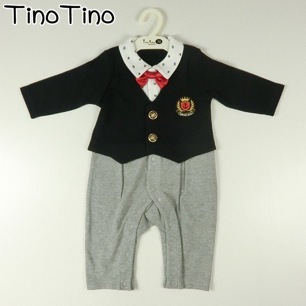 601015d305c2a ベビー キッズ 服 TinoTino 男 フォーマル カバーオール ティノティノ 赤ちゃん プレゼント 記念日 出産祝い 70cm