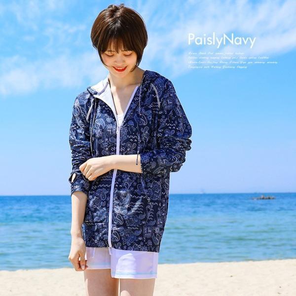ラッシュガード レディース パーカー おしゃれ 水着用 長袖 ラッシュパーカー ジップアップ UV|fashionletter|13