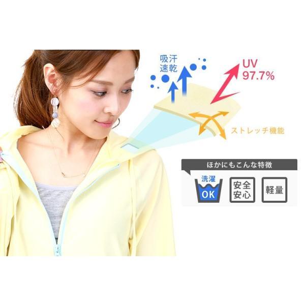 ラッシュガード レディース パーカー おしゃれ 水着用 長袖 ラッシュパーカー ジップアップ UV|fashionletter|03
