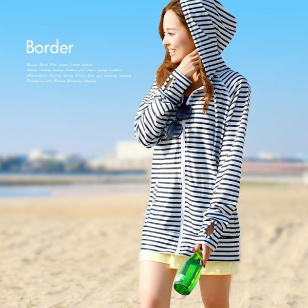 ラッシュガード レディース パーカー おしゃれ 水着用 長袖 ラッシュパーカー ジップアップ UV|fashionletter|04