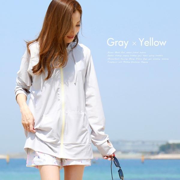 ラッシュガード レディース パーカー おしゃれ 水着用 長袖 ラッシュパーカー ジップアップ UV|fashionletter|07