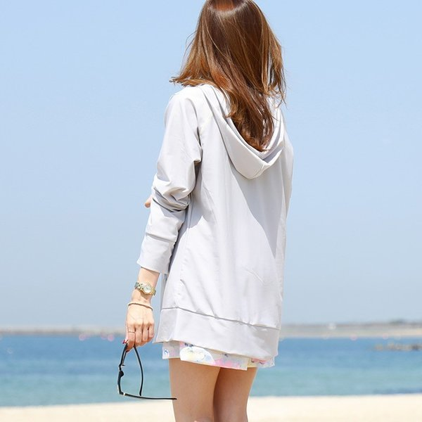 ラッシュガード レディース パーカー おしゃれ 水着用 長袖 ラッシュパーカー ジップアップ UV|fashionletter|08