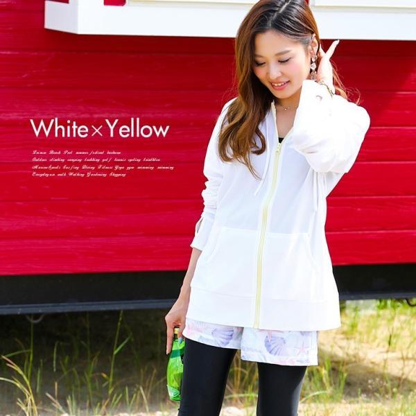 ラッシュガード レディース パーカー おしゃれ 水着用 長袖 ラッシュパーカー ジップアップ UV|fashionletter|10