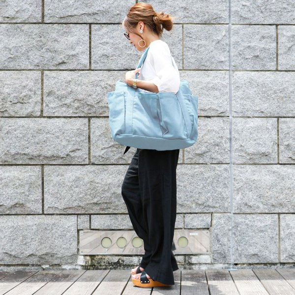 マザーズバッグ 軽量 トート キャンバス 無地 ファスナー付き 大きめ A4 レディース トートバッグ ママ マザー ビッグ 大容量 旅行バッグ 日帰り 通勤 通学|fashionletter|13