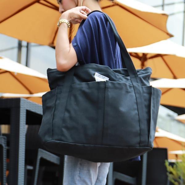 マザーズバッグ 軽量 トート キャンバス 無地 ファスナー付き 大きめ A4 レディース トートバッグ ママ マザー ビッグ 大容量 旅行バッグ 日帰り 通勤 通学|fashionletter|08