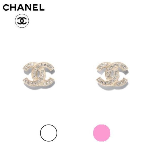 CHANEL CC Earrings Line Stone 2020SS シャネル ラインストーン CCピアス (ゴールド) 2020年春夏新作