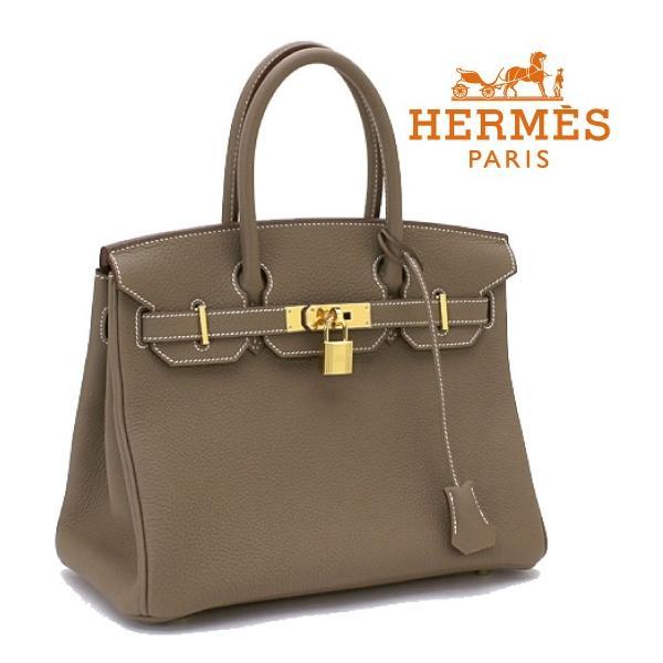 HERMES エルメス バーキン30 トゴ エトゥープ 027633CC ゴールド金具