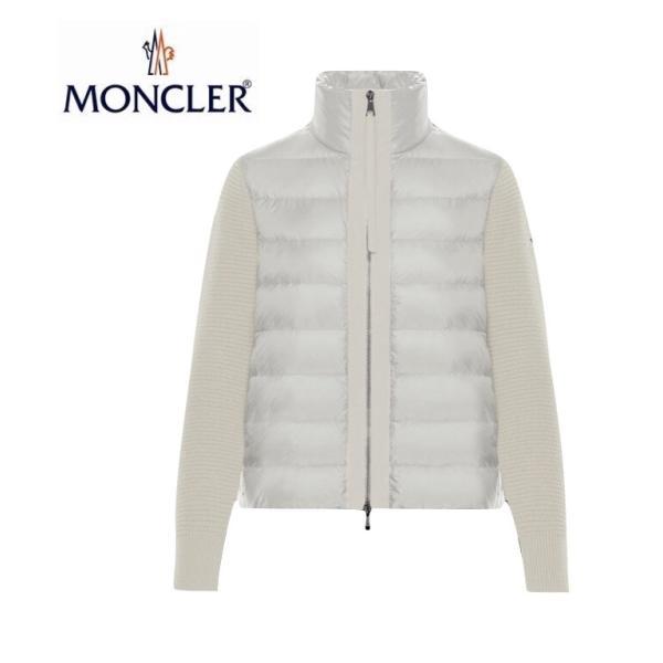 【海外限定カラー】MONCLER モンクレール ZIPPER TRICOT CARDIGAN ジッパー トリコット カーディガン Ladys レディース White ホワイト 2019-2020年秋冬新作|fashionplate-fsp