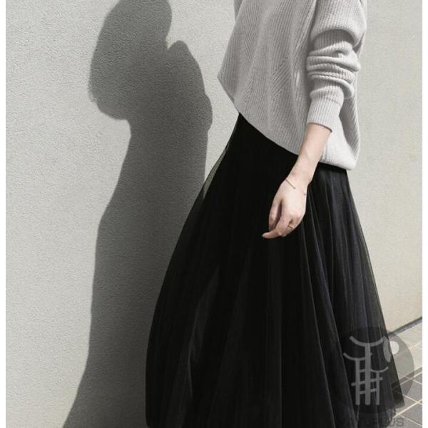 スカート チュールスカート スカート マキシ ロングスカート フレアスカート ウエストゴム マキシスカート ミモレ丈 スカート フリル 一部分当日発送 代引不可|fashionrizumu|07