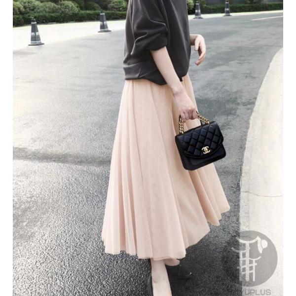 スカート チュールスカート スカート マキシ ロングスカート フレアスカート ウエストゴム マキシスカート ミモレ丈 スカート フリル 一部分当日発送 代引不可|fashionrizumu|10