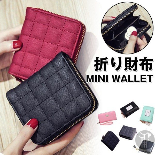 de6c45c02bb1 ミニ財布 二つ折り財布 レディース 財布 二つ折り 小銭入れ コンパクト 小さい財布 コインケース ...