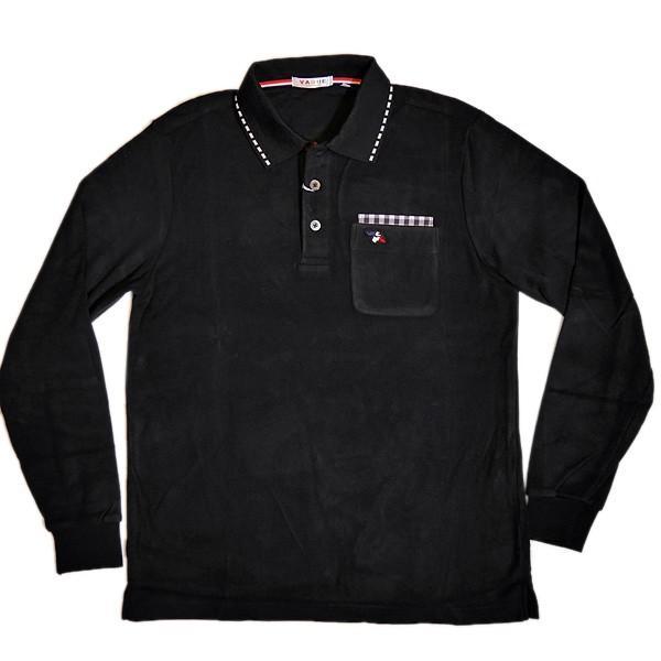 バジエ VAGIIE 暖か素材 長袖フリースポロシャツ 1120-2001 日本製 (アウトレット30%OFF) 通常販売価格:18700円 fashionspace-yokoya