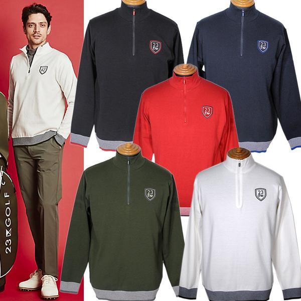23区ゴルフ 23区GOLF メンズ 長袖ハイネックジップアップニットカットソー ゴルフウェア 通常販売価格:18700円|fashionspace-yokoya