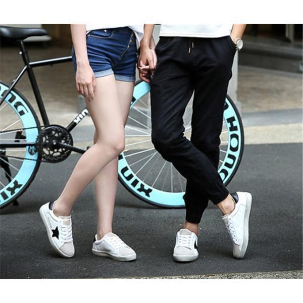 カップル ペア 靴 カップル靴 ペアお揃い スニーカー 厚底 フラットシューズ ローカット ファッション 韓国風 レースアップ ランニングシューズ