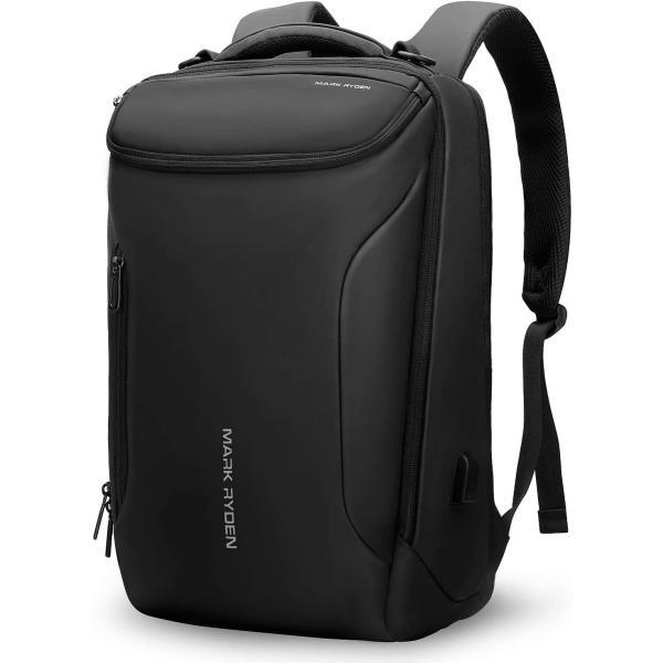 バックパック防水ビジネスリュックメンズ用30L大容量盗難防止ラップトップバッグ17インチパソコン対応黒