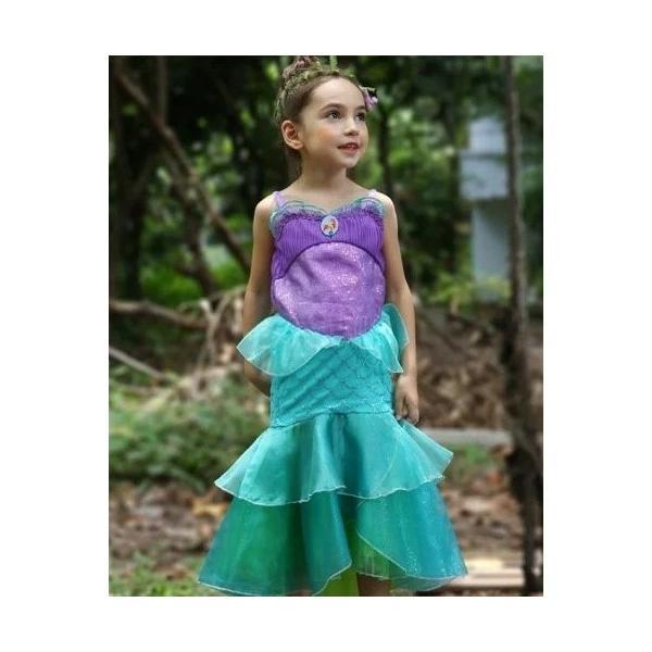7a8baf2f63914 子供用ドレス アリエル 仮装 人魚姫 キッズ コスチューム プリンセスドレス 半袖