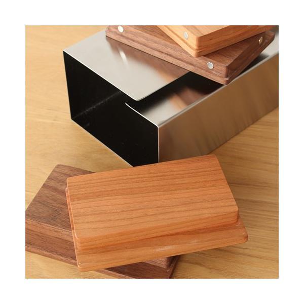 ヤマサキデザインワークス ティッシュボックス 木製 チェリー / ウォルナット ティッシュケース ステンレス 日本製 おしゃれ favoritestyle 03