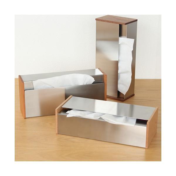 ヤマサキデザインワークス ティッシュボックス 木製 チェリー / ウォルナット ティッシュケース ステンレス 日本製 おしゃれ favoritestyle 06