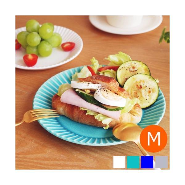 SAKUZAN ストライプ Stripe 丸皿 M 18.8cm プレート 作山窯 美濃焼 食器 取り皿 中皿 浅皿 丸型 円形 日本製 和食器|favoritestyle