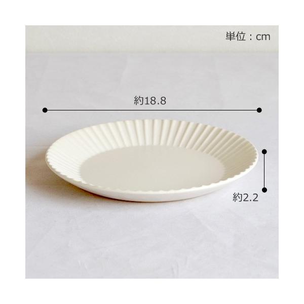 SAKUZAN ストライプ Stripe 丸皿 M 18.8cm プレート 作山窯 美濃焼 食器 取り皿 中皿 浅皿 丸型 円形 日本製 和食器|favoritestyle|02