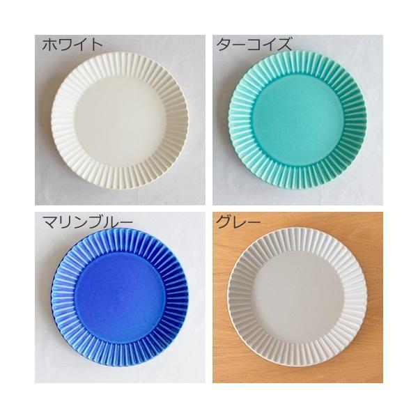 SAKUZAN ストライプ Stripe 丸皿 M 18.8cm プレート 作山窯 美濃焼 食器 取り皿 中皿 浅皿 丸型 円形 日本製 和食器|favoritestyle|03