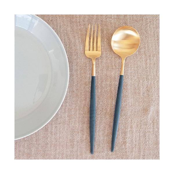 クチポール ゴア テーブルスプーン ブルー ゴールド Cutipol GOA カトラリー スプーン 食器 おしゃれ カフェ 軽量 CTGO-05-GBL|favoritestyle|03
