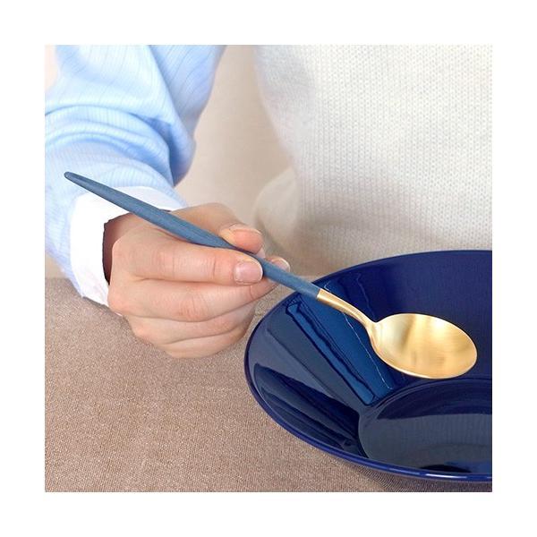 クチポール ゴア テーブルスプーン ブルー ゴールド Cutipol GOA カトラリー スプーン 食器 おしゃれ カフェ 軽量 CTGO-05-GBL|favoritestyle|04