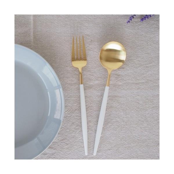 クチポール ゴア テーブルスプーン ホワイトゴールド Cutipol GOA カトラリー スプーン 食器 おしゃれ 軽量 カフェ CTGO-05-GW favoritestyle 03