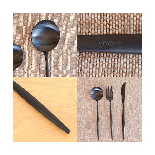クチポール ムーン マット ブラック テーブルスプーン Cutipol MOON MATT BLACK カトラリー スプーン 食器 おしゃれ 軽量 カフェ CTMO-05-BKF favoritestyle 05