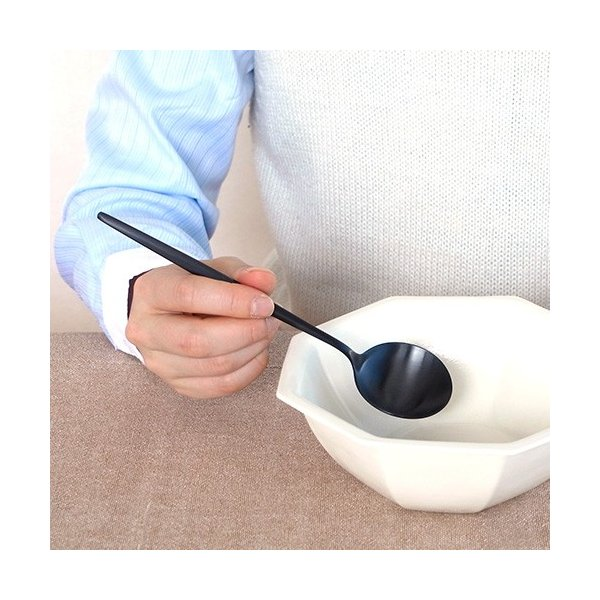 クチポール ムーン マット ブラック テーブルスプーン Cutipol MOON MATT BLACK カトラリー スプーン 食器 おしゃれ 軽量 カフェ CTMO-05-BKF favoritestyle 06
