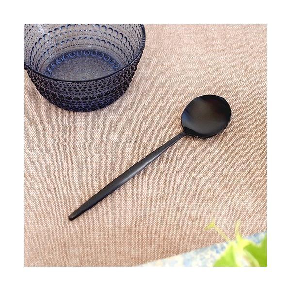 クチポール ムーン マット  ブラック デザートスプーン Cutipol MOON MATT BLACK カトラリー スプーン 食器 おしゃれ 軽量 カフェ CTMO-08-BKF|favoritestyle|03