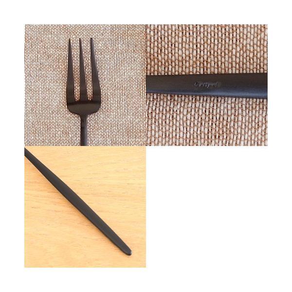 クチポール ムーン マット ブラック ペストリーフォーク Cutipol MOON MATT BLACK カトラリー フォーク ケーキフォーク CTMO-24-BKF|favoritestyle|05