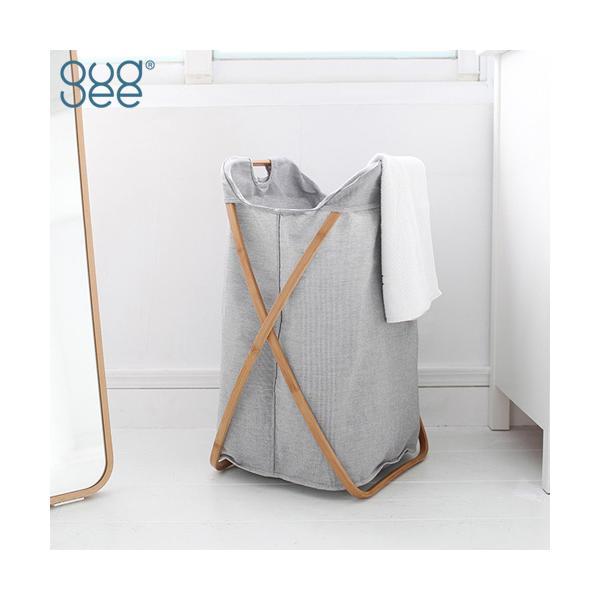 GUDEE ランドリーバスケット 折りたたみ 洗濯かご 大容量 100L 竹 バンブー 布 Butterfly-Laundry hamper