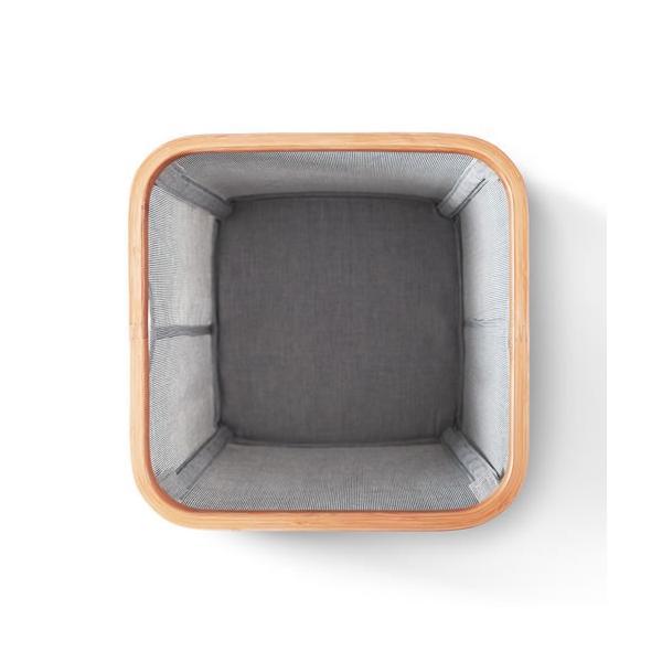 GudeeLife 収納 バスケット スクエア型 収納ボックス 折りたたみ おしゃれ ストレージボックス 収納ケース かご 正方形 自立 竹 布|favoritestyle|04